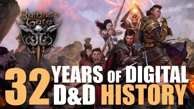 Baldur's Gate 3: una breve historia de los videojuegos de D&D