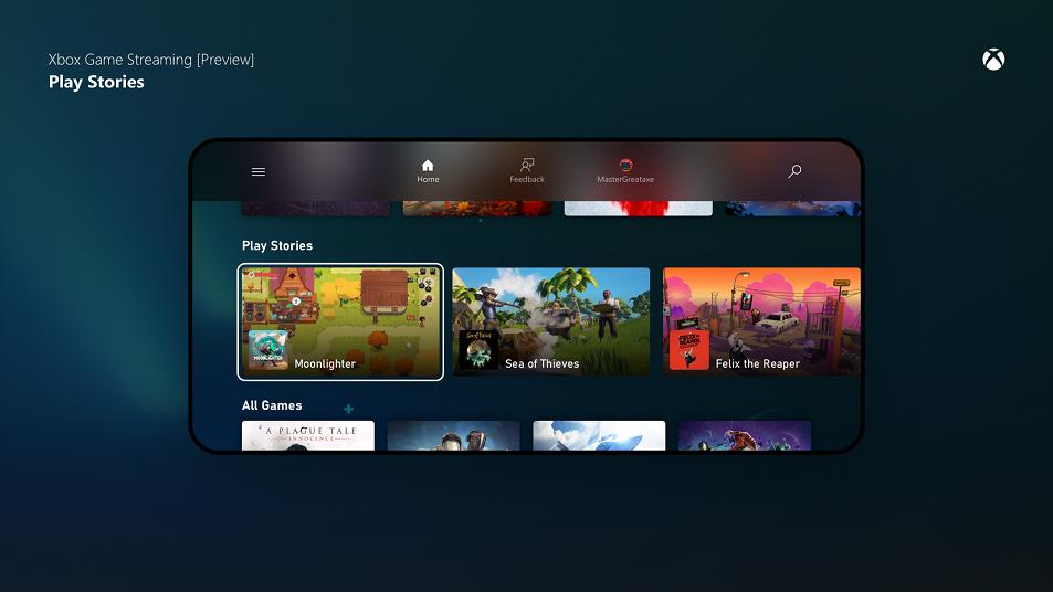 Actualización de la vista previa de Project xCloud: permitiéndole descubrir y jugar más juegos