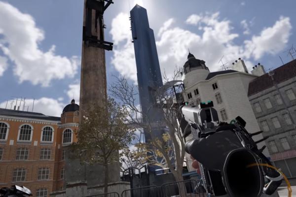 Modder recrea la pieza del set de apertura de Half-Life 2 en Half-Life: Alyx's Engine