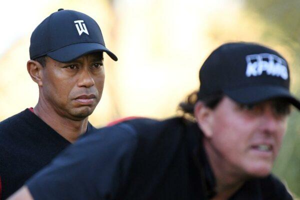 """Phil Mickelson está """"trabajando"""" en una revancha con Tiger Woods"""