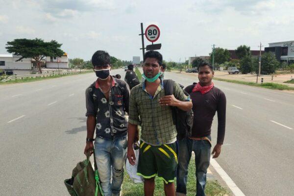 Bloqueo de coronavirus en India: un hombre cansa 1250 millas para viajar a casa … a pie