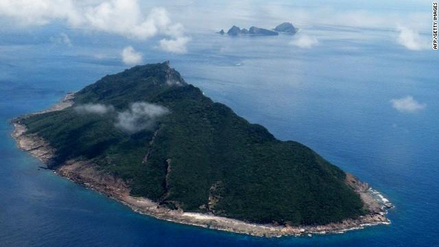 Esta fotografía aérea tomada el 15 de septiembre de 2010 muestra las islas en disputa de Senkaku en Japón y Diaoyu en China en el Mar Oriental de China.
