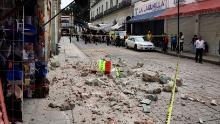 Escombros de un edificio destruido por el terremoto en Oaxaca, México, el martes 23 de junio.