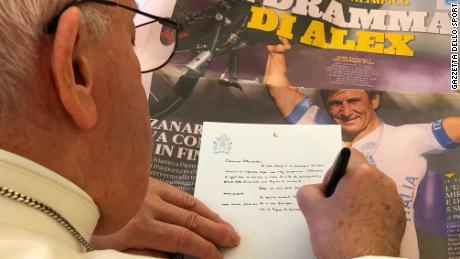 La carta fue publicada en la portada de Gazzetta dello Sport el miércoles.