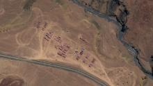 El tanque PLA y la compañía de artillería están acampando en Gorga, Aksai, China.