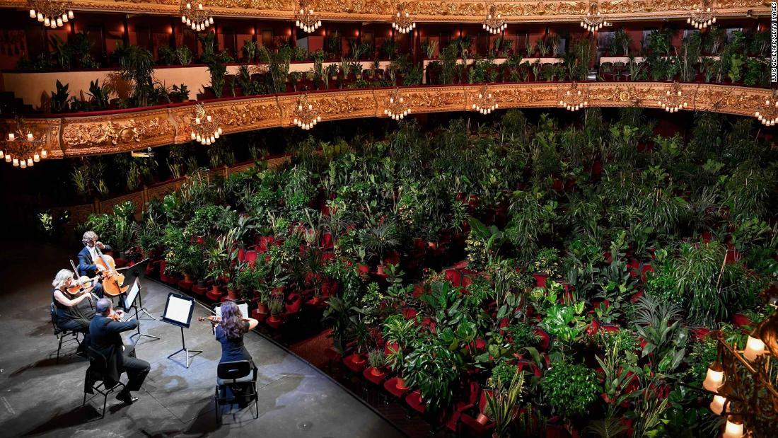 La Ópera de Barcelona juega para miles de plantas.