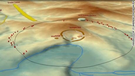 Los ejes se unen para formar un círculo de más de dos kilómetros de diámetro.